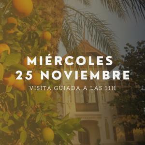 visita guiada 26 noviembre huerto ribera naranjas
