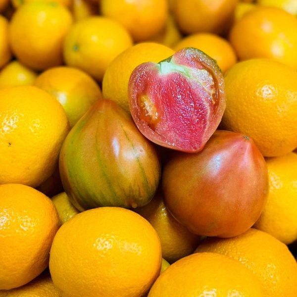tomate y naranja